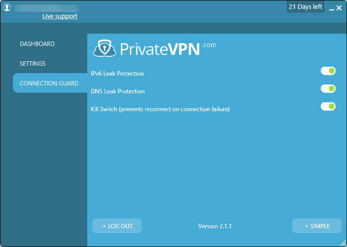 privatevpn connection
