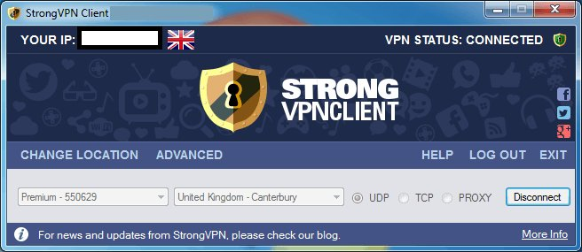 strongvpn interface